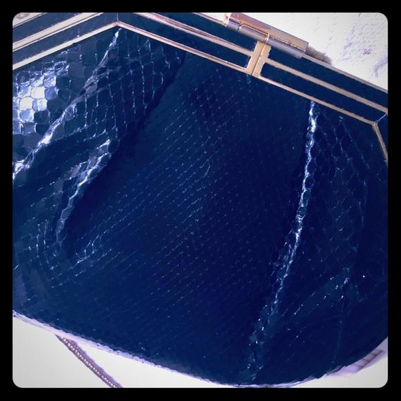 Caggiano Handbags - CAGGIANO BLACK AND GOLD CLUTCH